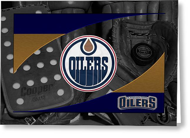 Barn Greeting Card Greeting Cards - Edmonton Oilers Greeting Card by Joe Hamilton