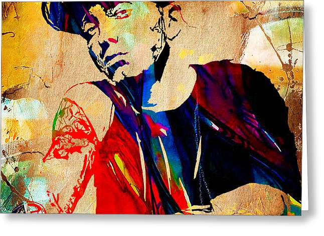 Print Greeting Cards - Eminem Collection Greeting Card by Marvin Blaine