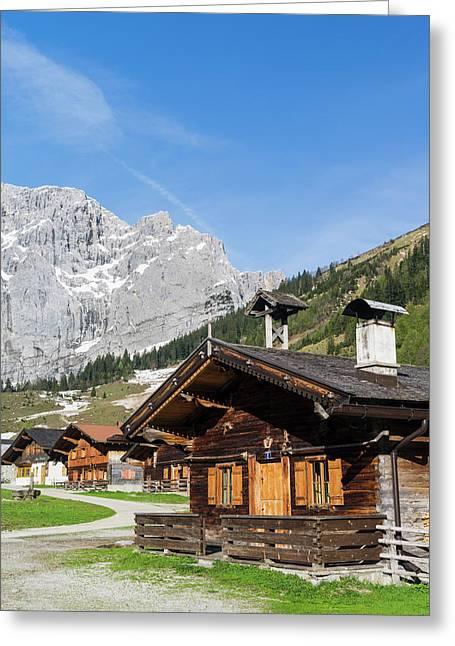 Eng Valley, Karwendel Mountain Range Greeting Card by Martin Zwick