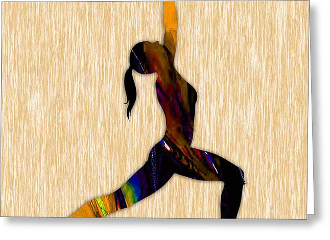 Inspiration Greeting Cards - Fitness Yoga Greeting Card by Marvin Blaine