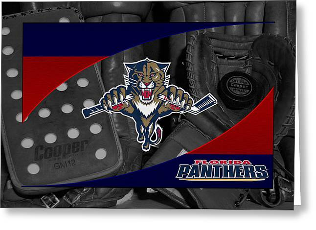 Florida Panthers Greeting Card by Joe Hamilton