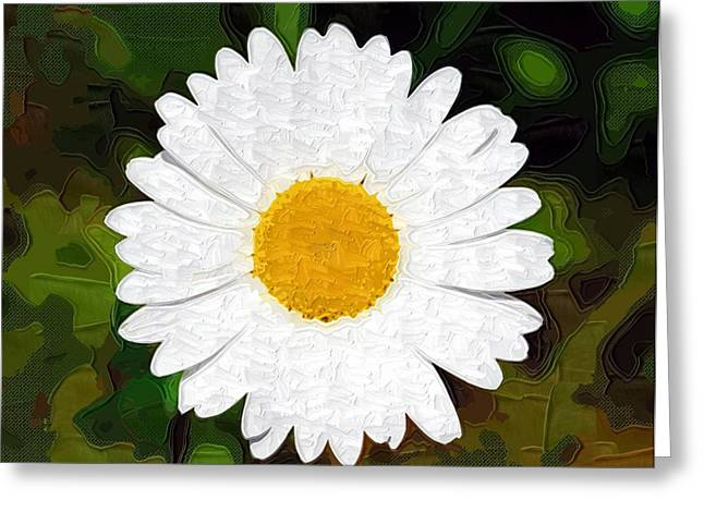 Close Up Paintings Greeting Cards - Flowers Oil Painting Greeting Card by Victor Gladkiy