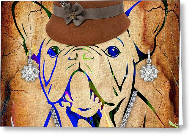 Bulldog Greeting Cards - French Bulldog Collection Greeting Card by Marvin Blaine