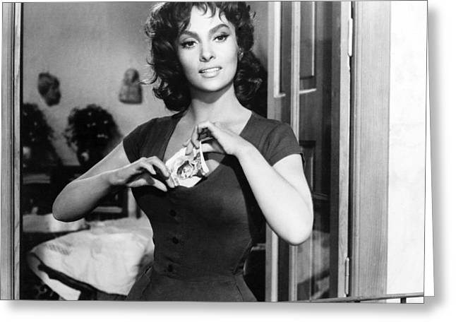 Gina Greeting Cards - Gina Lollobrigida Greeting Card by Silver Screen