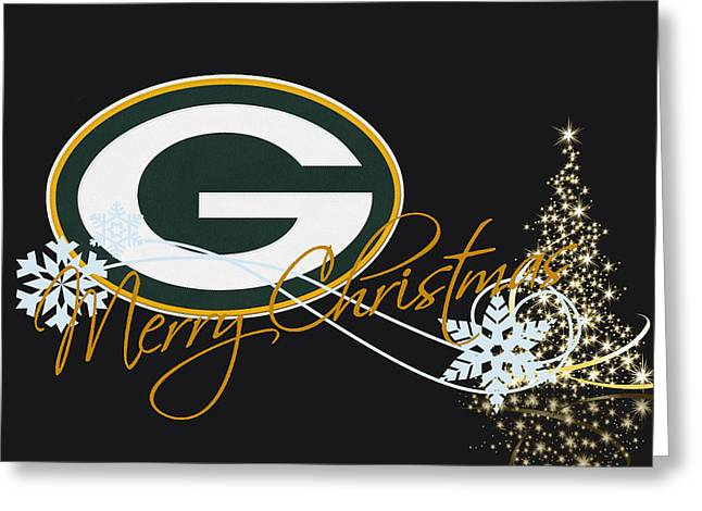 Green Greeting Cards Greeting Cards - Green Bay Packers Greeting Card by Joe Hamilton