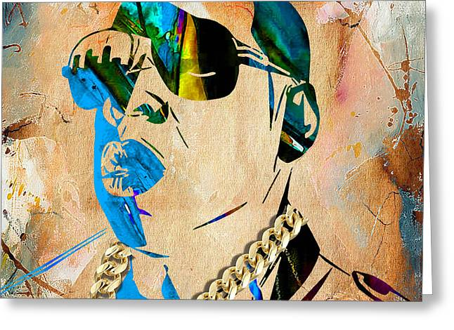 Jay Z Greeting Cards - Jay Z Collection Greeting Card by Marvin Blaine