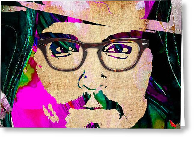 Johnny Depp Collection Greeting Card by Marvin Blaine