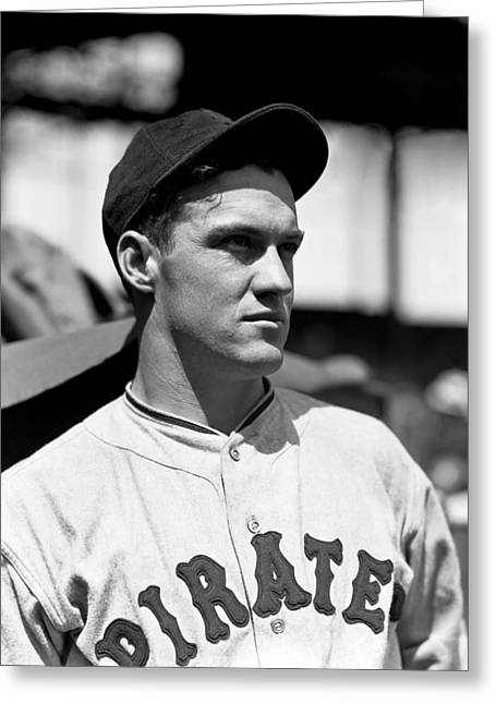 Pittsburgh Pirates Photographs Greeting Cards - Joseph F. Arky Vaughan Greeting Card by Retro Images Archive
