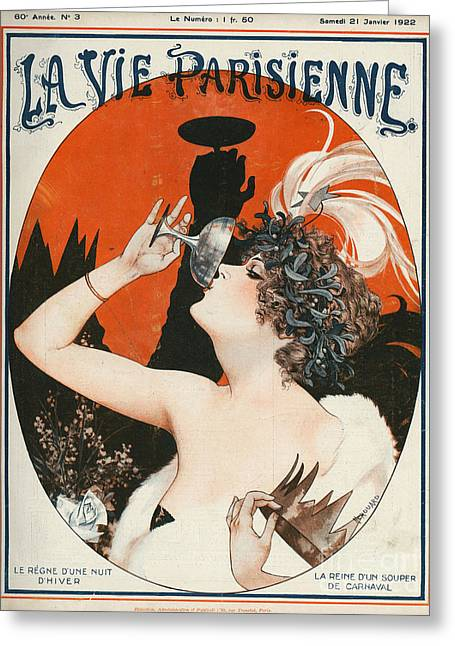 Twentieth Century Greeting Cards - La Vie Parisienne  1922 1920s France Greeting Card by The Advertising Archives