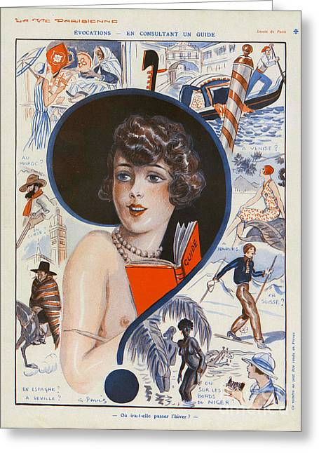 La Vie Parisienne  1929 1920s France Cc Greeting Card by The Advertising Archives