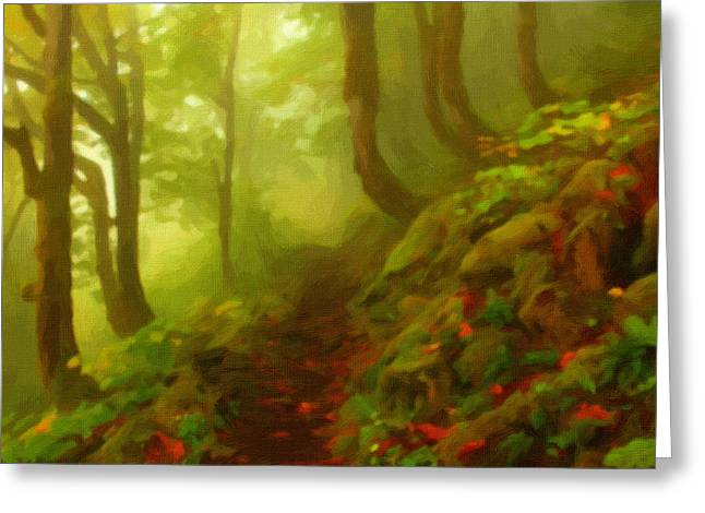 Autumn Landscape Poster Greeting Cards - Landscape Summer Greeting Card by Victor Gladkiy