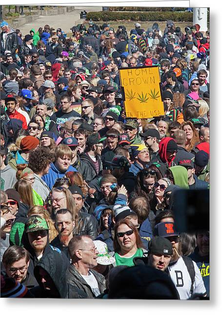 Legalisation Of Marijuana Rally Greeting Card by Jim West