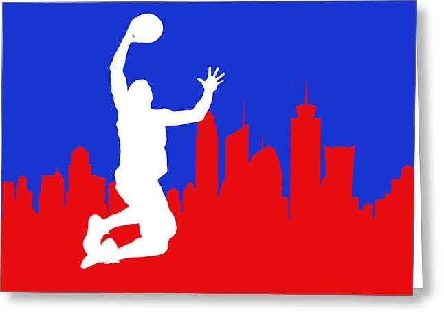 Blake Griffin Greeting Cards - Los Angeles Clippers Greeting Card by Joe Hamilton