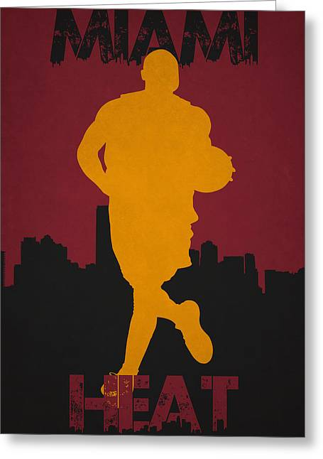 Division Greeting Cards - Miami Heat Greeting Card by Joe Hamilton
