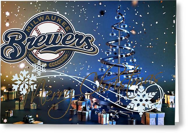 Baseball Field Greeting Cards - Milwaukee Brewers Greeting Card by Joe Hamilton