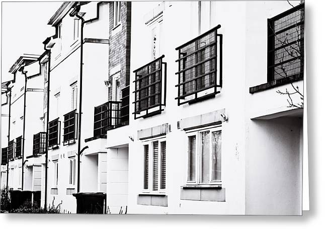 Spring Street Greeting Cards - Modern apartments Greeting Card by Tom Gowanlock