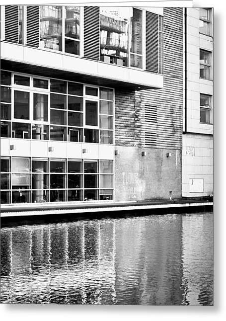 Black Commerce Greeting Cards - Modern building Greeting Card by Tom Gowanlock