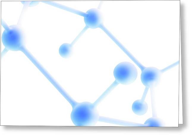 Molecule Greeting Card by Alfred Pasieka