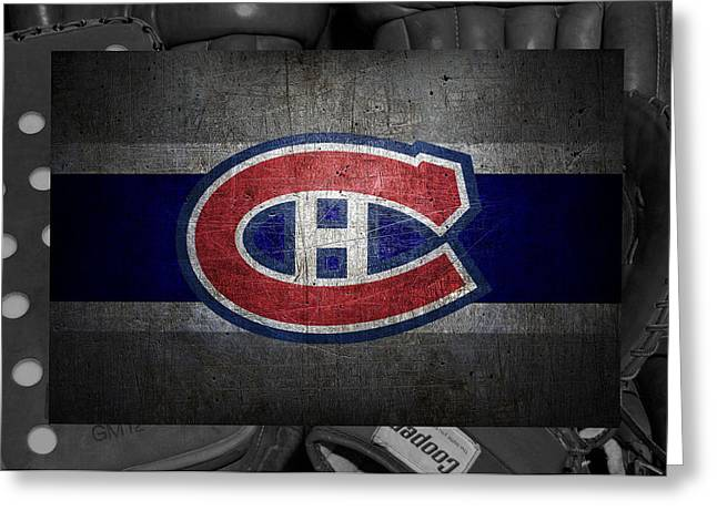 Goals Greeting Cards - Montreal Canadiens Greeting Card by Joe Hamilton