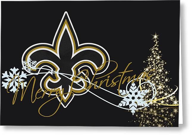 Offense Greeting Cards - New Orleans Saints Greeting Card by Joe Hamilton