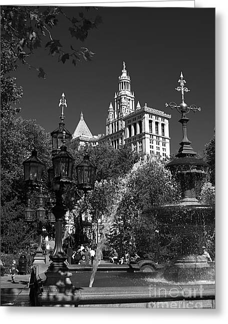 City Hall Greeting Cards - New York City Greeting Card by ELITE IMAGE photography By Chad McDermott