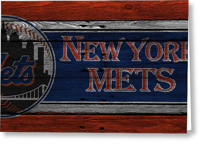 Met Greeting Cards - New York Mets Greeting Card by Joe Hamilton