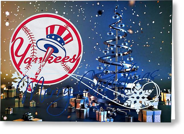 Yankee Greeting Cards - New York Yankees Greeting Card by Joe Hamilton