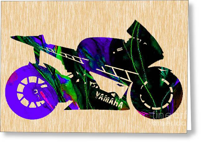 Bike Greeting Cards - Ninja Motorcycle Greeting Card by Marvin Blaine