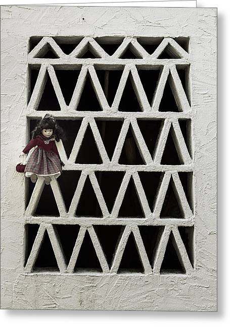 Grate Greeting Cards - Old Doll Greeting Card by Joana Kruse