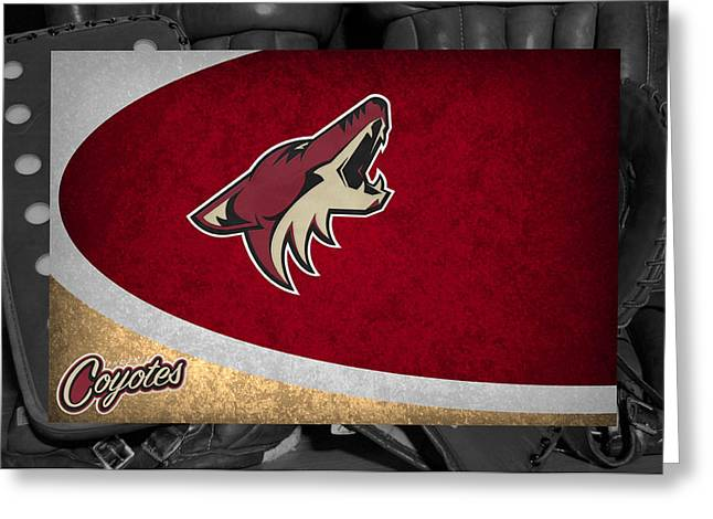 Coyote Greeting Cards - Phoenix Coyotes Greeting Card by Joe Hamilton