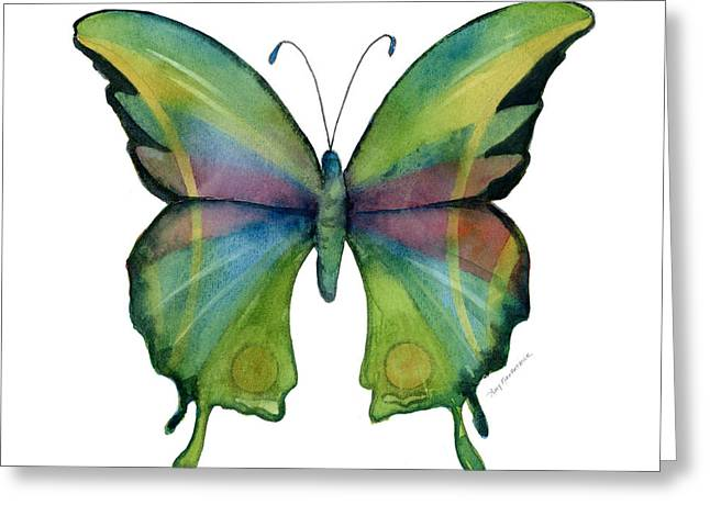 Background Paintings Greeting Cards - 11 Prism Butterfly Greeting Card by Amy Kirkpatrick