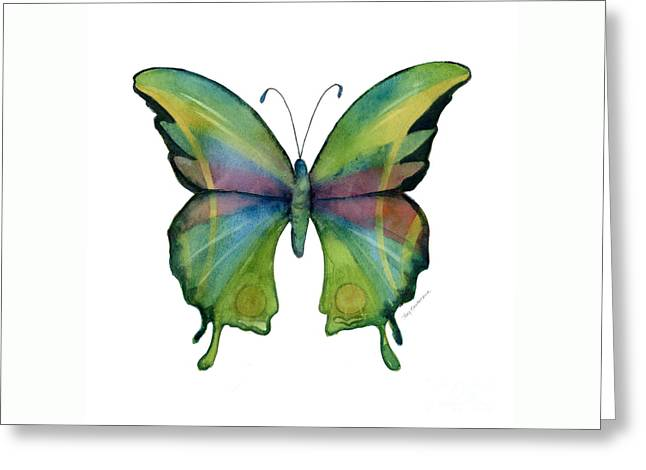 11 Prism Butterfly Greeting Card by Amy Kirkpatrick