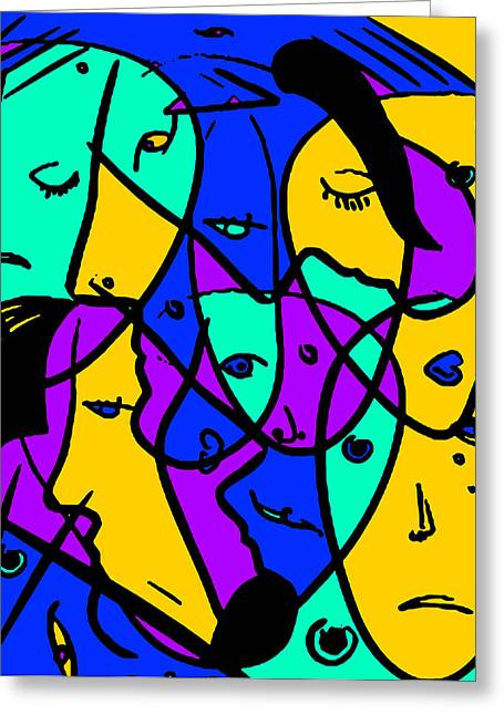 Pablo Picasso Greeting Cards - Putsches Casso Greeting Card by Sir Josef  Putsche
