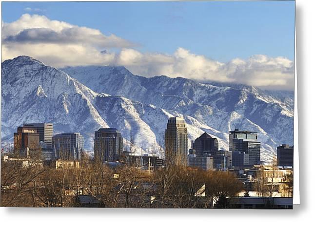 Salt Lake City Temple Greeting Cards - Salt Lake City Utah Greeting Card by Utah Images