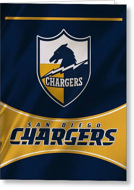 Team Greeting Cards - San Diego Chargers Uniform Greeting Card by Joe Hamilton