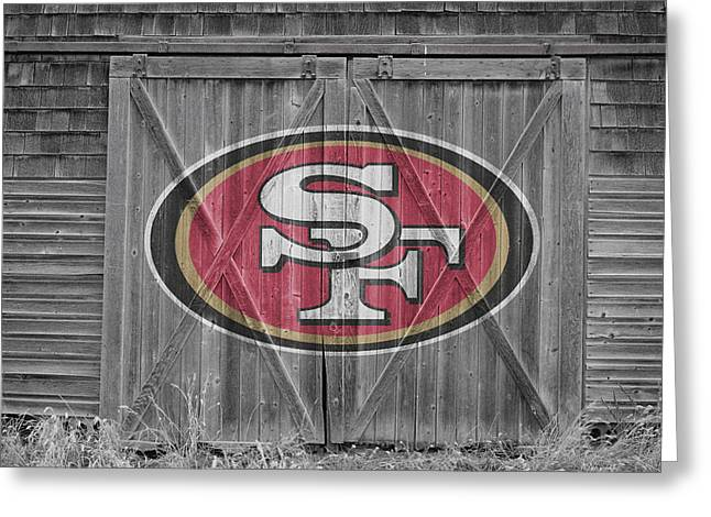 Recently Sold -  - Player Greeting Cards - San Francisco 49ers Greeting Card by Joe Hamilton