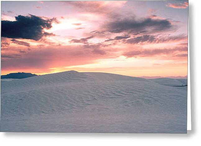 White Sands National Monument Greeting Cards - Sand Dunes In A Desert, White Sands Greeting Card by Panoramic Images
