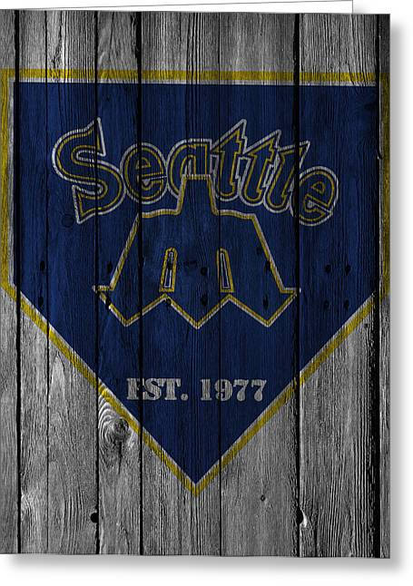 Seattle Greeting Cards Greeting Cards - Seattle Mariners Greeting Card by Joe Hamilton