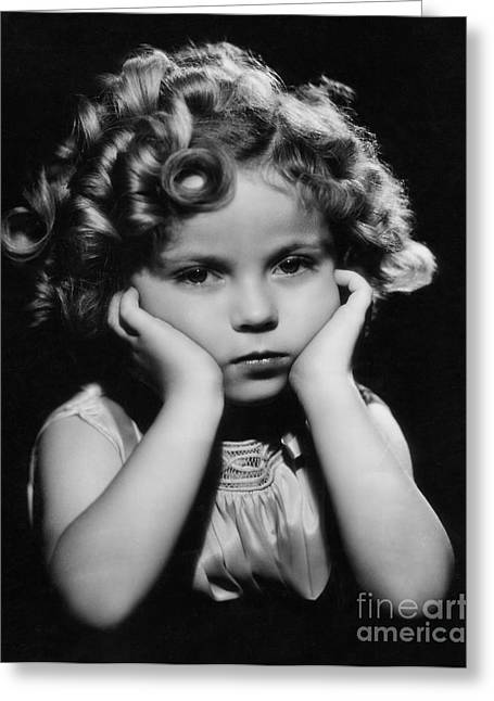 Child Greeting Cards - Shirley Temple Greeting Card by MMG Archive Prints