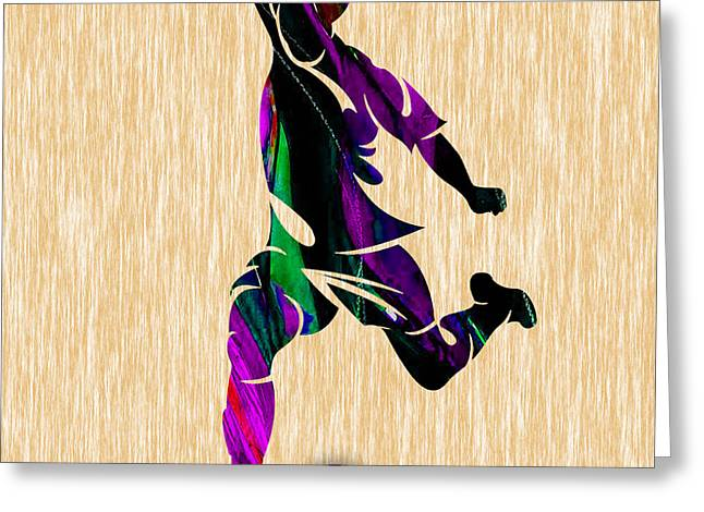 Soccer Ball Greeting Cards - Soccer Greeting Card by Marvin Blaine