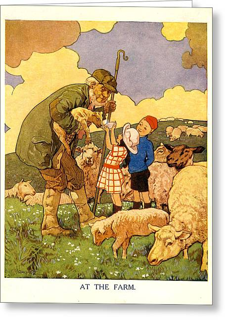 Sheep Drawings Greeting Cards - Uk Illustrations Book Plate Greeting Card by The Advertising Archives