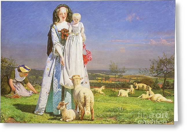Innocence Baby. Simplicity Greeting Cards - Victorian art piece Greeting Card by Indian Summer