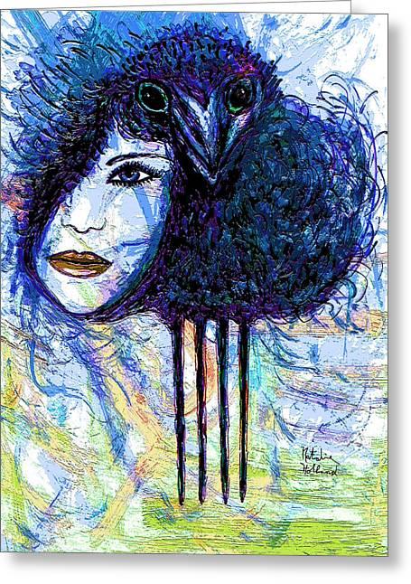 Natalie Holland Greeting Cards - Vintage Hair Comb Greeting Card by Natalie Holland