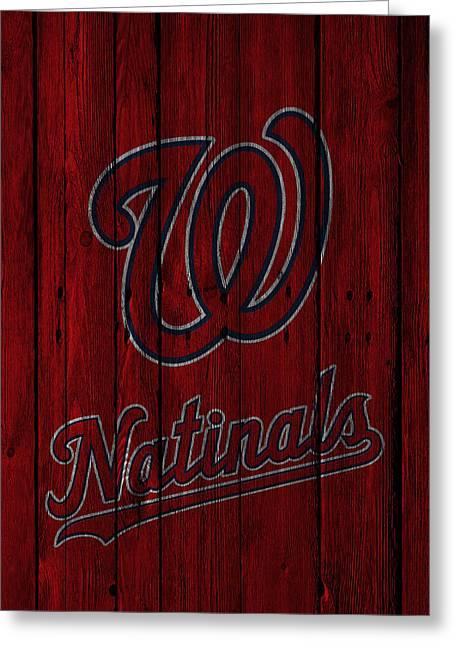 National Photographs Greeting Cards - Washington Nationals Greeting Card by Joe Hamilton