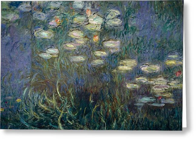 Water Garden Greeting Cards - Water Lilies Greeting Card by Claude Monet