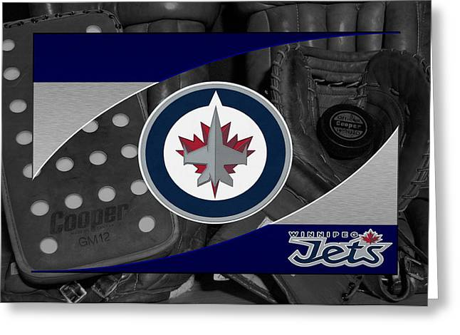 Winnipeg Jets Greeting Card by Joe Hamilton