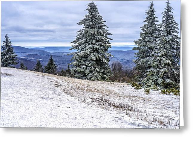 Winter Solstice Greeting Cards - Winter along the Highland Scenic Highway Greeting Card by Thomas R Fletcher