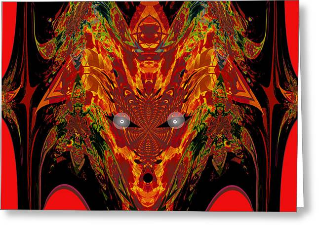 Portrait Of Evil Greeting Cards - 1112 -   Trace of Evil Greeting Card by Irmgard Schoendorf Welch