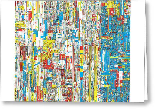 Bauhaus Greeting Cards - 111469 digits of Pi Greeting Card by Martin Krzywinski