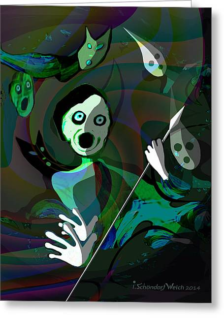 The Scream Greeting Cards - 1122 - Fear ...  the scream Greeting Card by Irmgard Schoendorf Welch